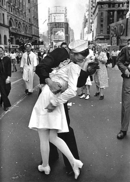 The Kissing Sailor.