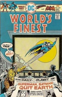 Superman, Batman QUIT EARTH