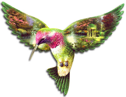 Graceful Wings of Serenity, from The Painter of Light™ Thomas Kinkade.