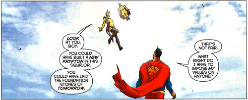 From All Star Superman #9, Grant Morrison and Frank Quitely.